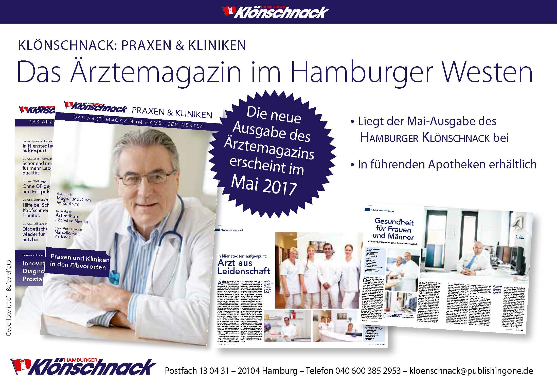 Klönschnack Praxen & Kliniken erscheint im Mai 2017