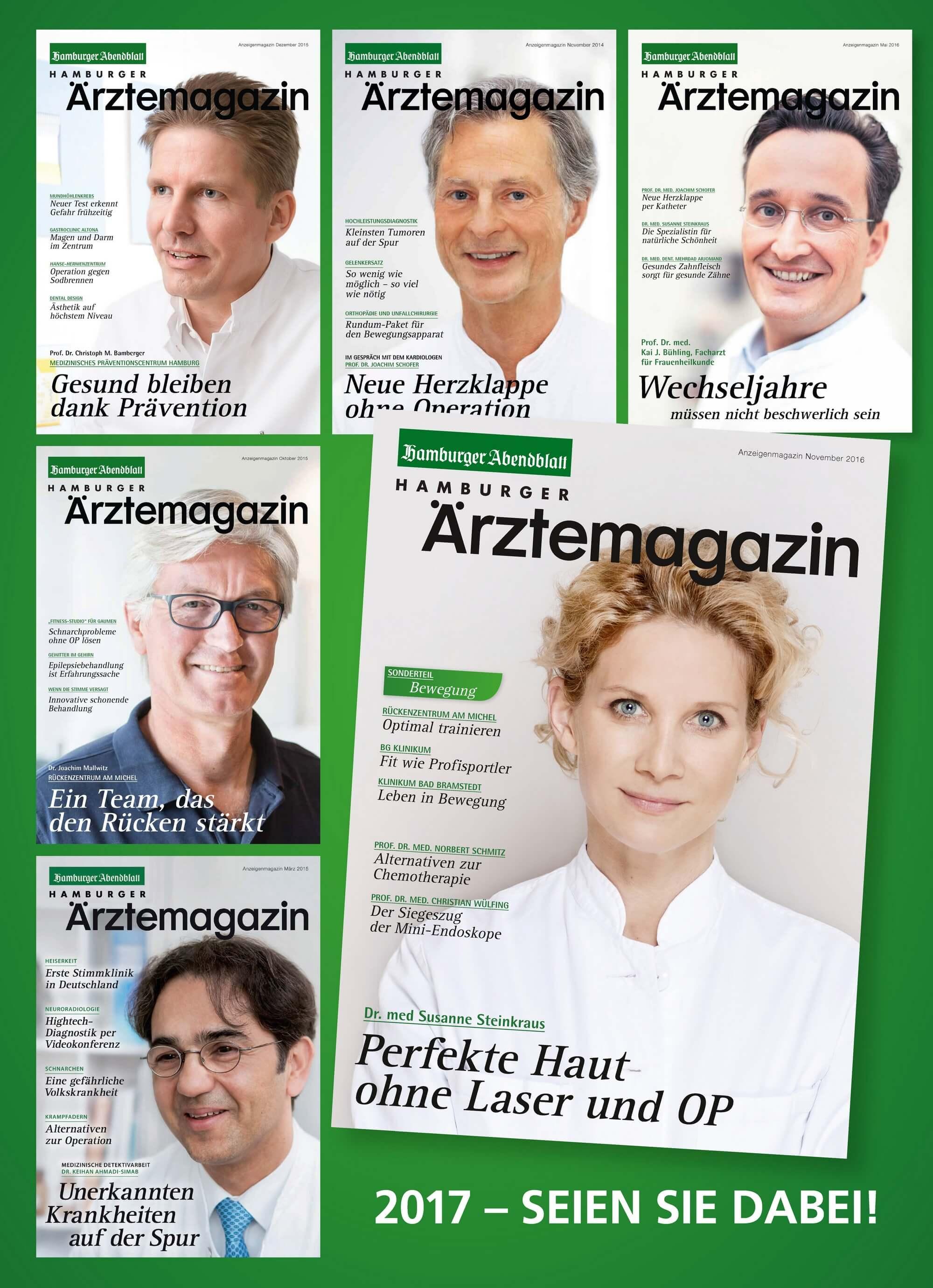 Nächstes Hamburger Ärztemagazin erscheint am 31.05.2017
