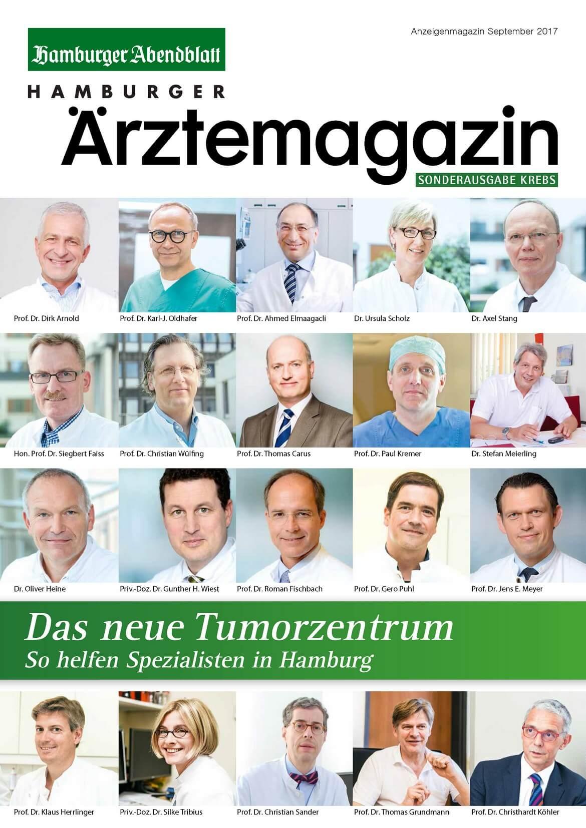 Hamburger Ärztemagazin Sonderausgabe Krebs erschienen