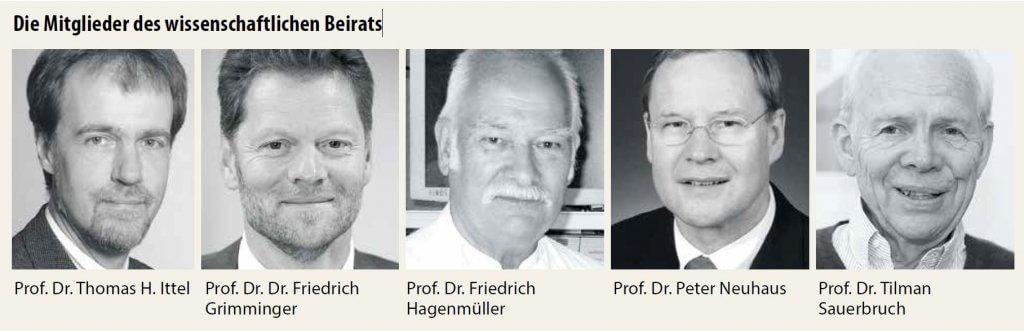 Die Mitglieder des wissenschaftlichen Beirats
