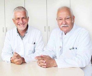 Prof. Dr. Dirk Arnold, Medizinischer Vorstand des Tumorzentrums, und Prof. Dr. Friedrich Hagenmüller, Mitglied des wissenschaftlichen Beirats, im Interview