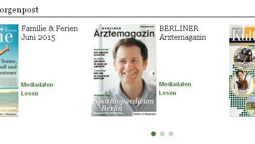 Berliner Ärztemagazin prominent auf Morgenpost.de
