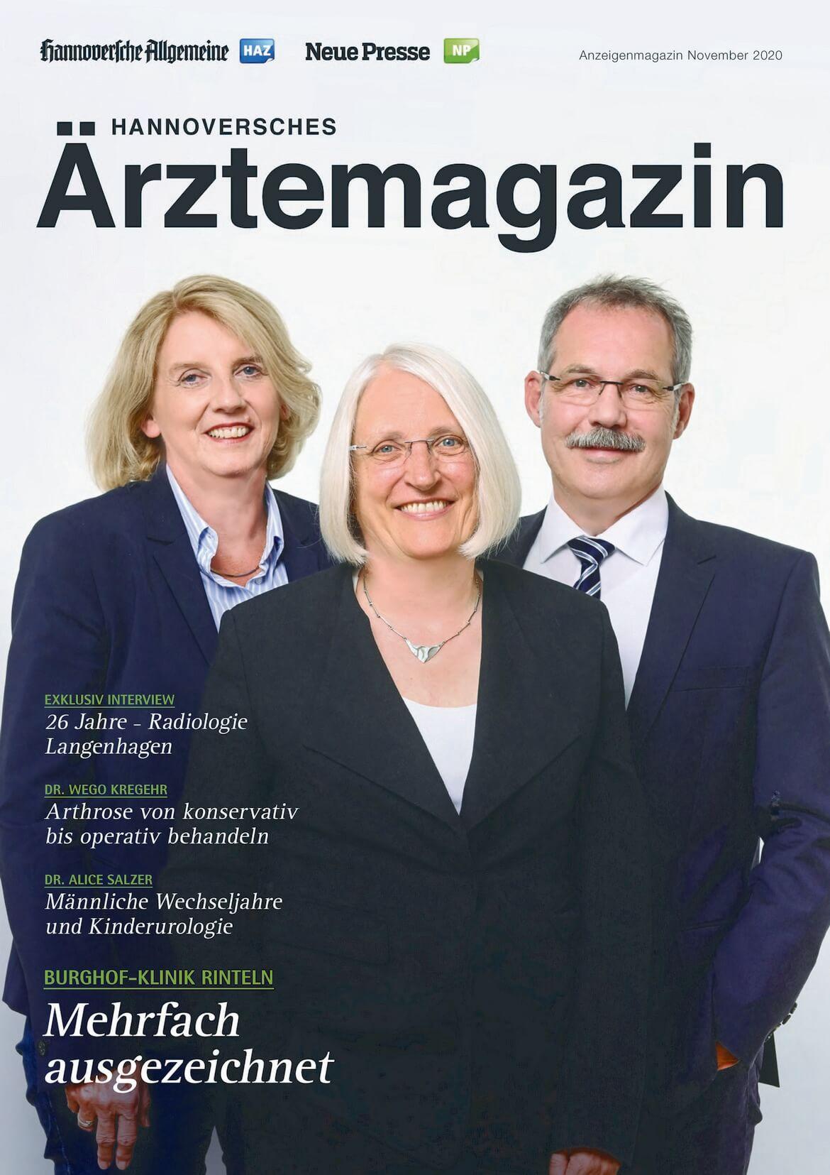 Hannoversches Ärztemagazin Ausgabe November 2020 erschienen