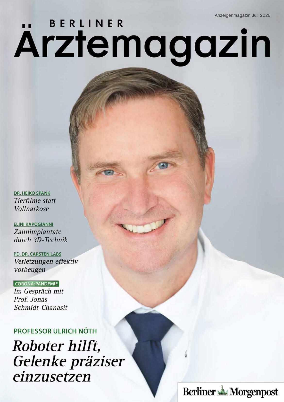Berliner Ärztemagazin Ausgabe Juli 2020 erschienen