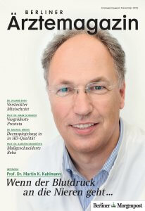 Titelbild Berliner Ärztemagazin Dezember 2016 Prof. Dr. Martin K. Kuhlmann