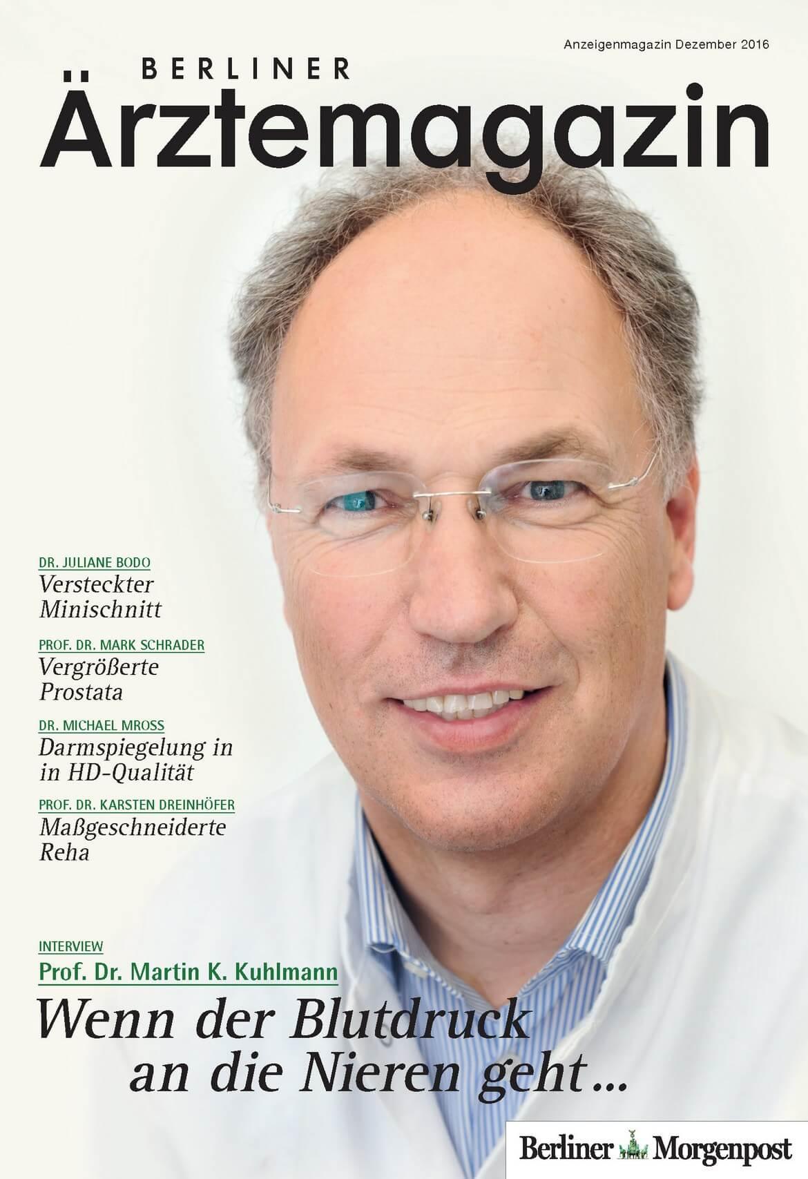 Berliner Ärztemagazin erscheint am 9. Dezember 2016