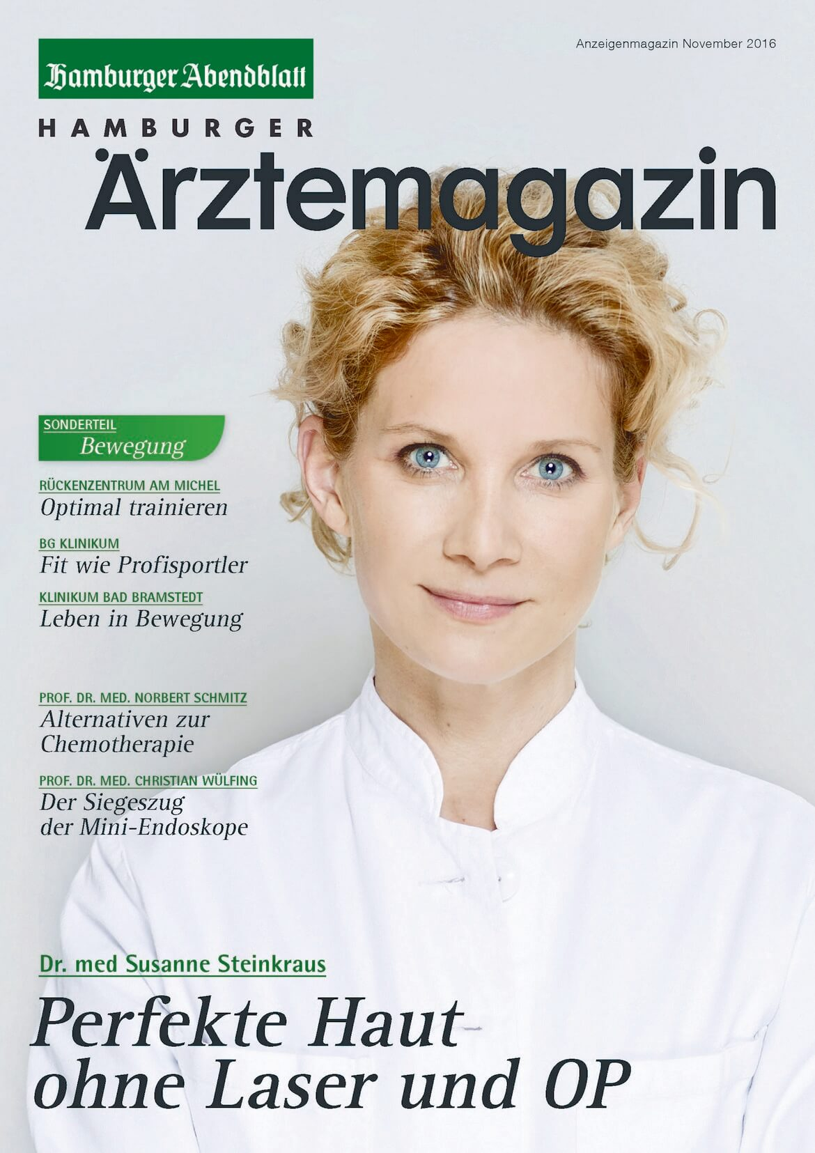 Hamburger Ärztemagazin erscheint am 24. November 2016