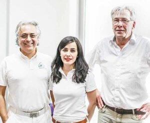 Dr. Mehrdad Arjomand, Dr. F. Farsian-Kirsch und Hans Ludwig Berten
